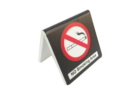 TABLE SIGN ''NO SMOKING AREA''